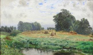 Пейзаж со скошенным сеном