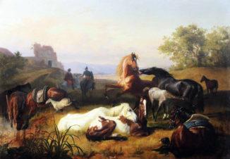Пастухи лошадей в Римской Кампанье