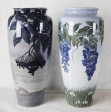 парные вазы в стиле модерн (ар-нуво)