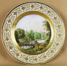 Декоративная тарелка «Прогулка на лошадях»