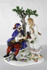 Фарфоровая статуэтка «Крестьянка и солдат»