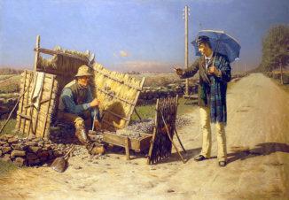 Беседа студента с дробильщиком камней (Встреча в пути)
