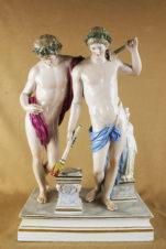 Фарфоровая статуэтка «Античные атлеты»
