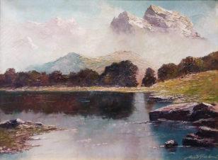 Пейзаж с озером Хинтерштайнер