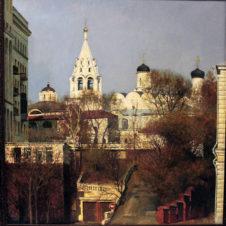 Вид на монастырь близ Таганки в Москве