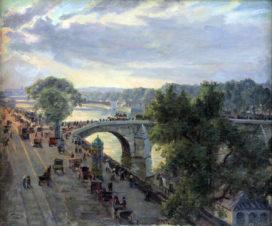 Вид с моста Руаяль в Париже