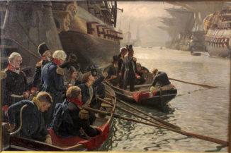 Британский флот уводит датские суда из гавани 21 октября 1807 года