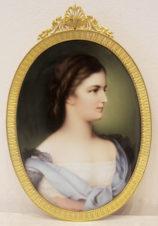 Фарфоровый пласт «портрет императрицы Австрии Елизаветы Баварской» (по оригиналу Франца Шроцберга)