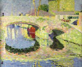Мост, освещённый солнцем