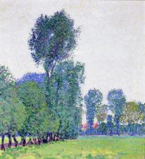 Импрессионистический пейзаж в голубой дымке