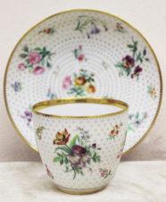 Чайная пара с цветочным декором