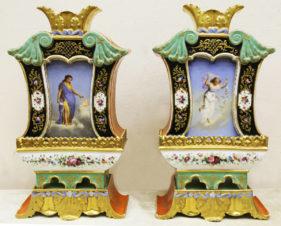 Парные вазы «Времена года» в стиле историзм