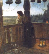 Девушка на колокольне