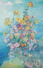 Букет хризантем на фоне моря