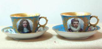 Старинные чашки (чайные пары)