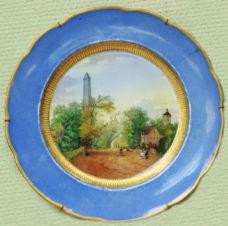Тарелка декоративная с изображением городского пейзажа
