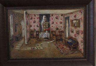 Эскиз декорации к комедии Н.В.Гоголя \»Женитьба\» (комната в доме Агафьи Тихоновны)
