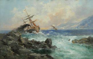 Корабль на бурной волне