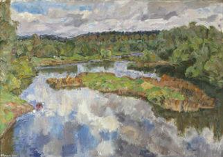 Река Протва осенью