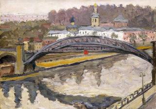Река Москва осенью
