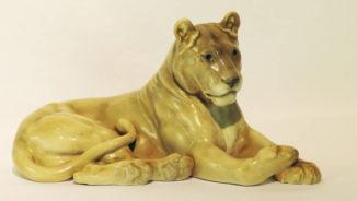Фарфоровая статуэтка «Львица»