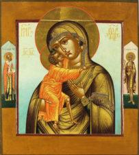 Старинная икона Божья Матерь «Феодоровская (Федоровская)»