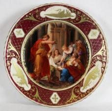 Тарелка декоративная с изображением античной жанровой сцены