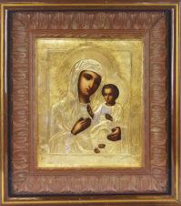 Старинная икона Божья Матерь «Иверская»