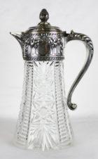 Большой серебряный кувшин с хрусталём в классическом стиле