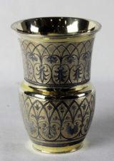 Серебряный стакан с растительным декором