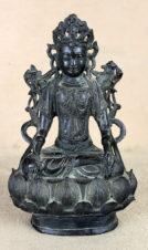 Старинная китайская бронзовая скульптура «Будда»