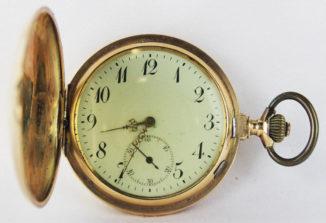 Старинные золотые карманные часы