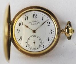 Антикварные золотые карманные часы с особо высокой точностью