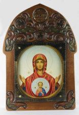 Старинная икона «Божья Матерь «Знамение»