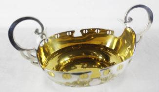 Антикварная серебряная конфетница в стиле модерн