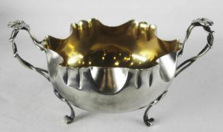 Серебряная конфетница в стиле модерн