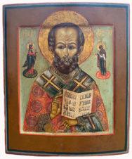 Старинная икона «Николай Чудотворец»