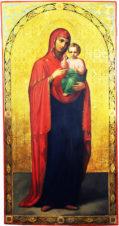 Старинная храмовая икона Божья Матерь «Одигитрия»
