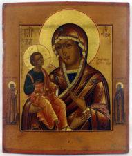 Старинная икона «Божья Матерь «Троеручица»
