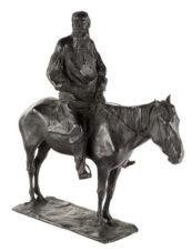 Скульптура бронзовая «Граф Лев Толстой на лошади»