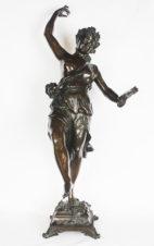 Бронзовая скульптура «Вакханка с тамбурином»
