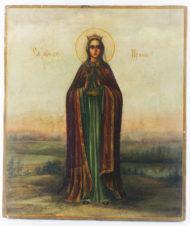 Старинная икона «Ирина — Святая великомученица «