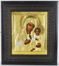 Старинная икона «Иверская Пресвятая Богородица»