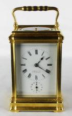 Старинные каретные часы с репетиром и будильником