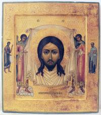 Старинная икона «Спас Нерукотворный (Спас на убрусе)»