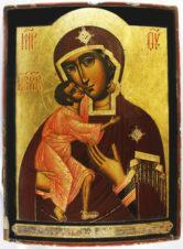 Старинная храмовая икона «Божья Матерь Феодоровская (Федоровская)»
