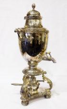 Старинный серебряный самовар (бульотка)