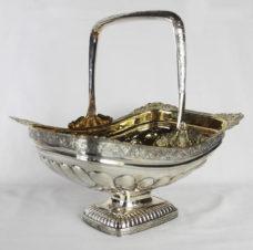 Антикварная серебряная конфетница