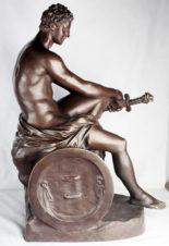 Бронзовая кабинетная скульптура «Арес Людовизи»