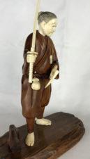 Окимоно «Самурай с мечами катана, вакидзаси и кусари-гама»